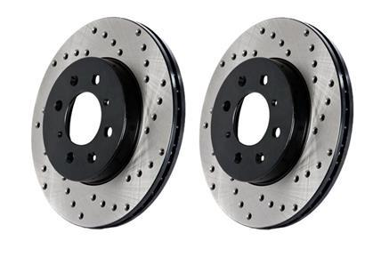 StopTech Cross Drilled TWO Front Rotors (01-06 MDX)-SAIKOSPEED