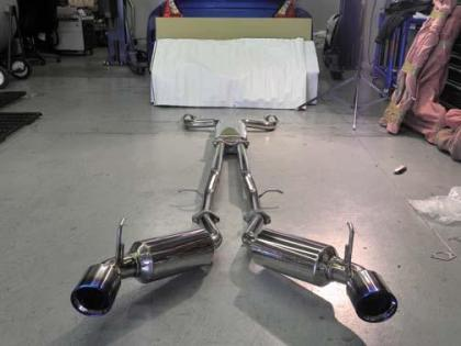 Injen Dual 60mm SS Cat-Back Exhaust w/ Built In Resonated X-Pipe (09-20 370z)-SAIKOSPEED