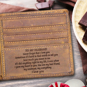 V1705 - You're My Everything - For Husband Engraved Wallet