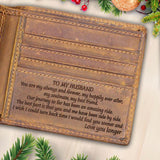 V1707- My Happily Ever After - For Husband Engraved Wallet