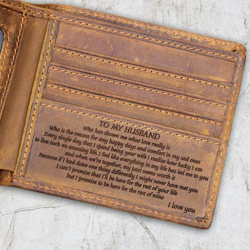V1714 - An Amazing Life - For Husband Engraved Wallet