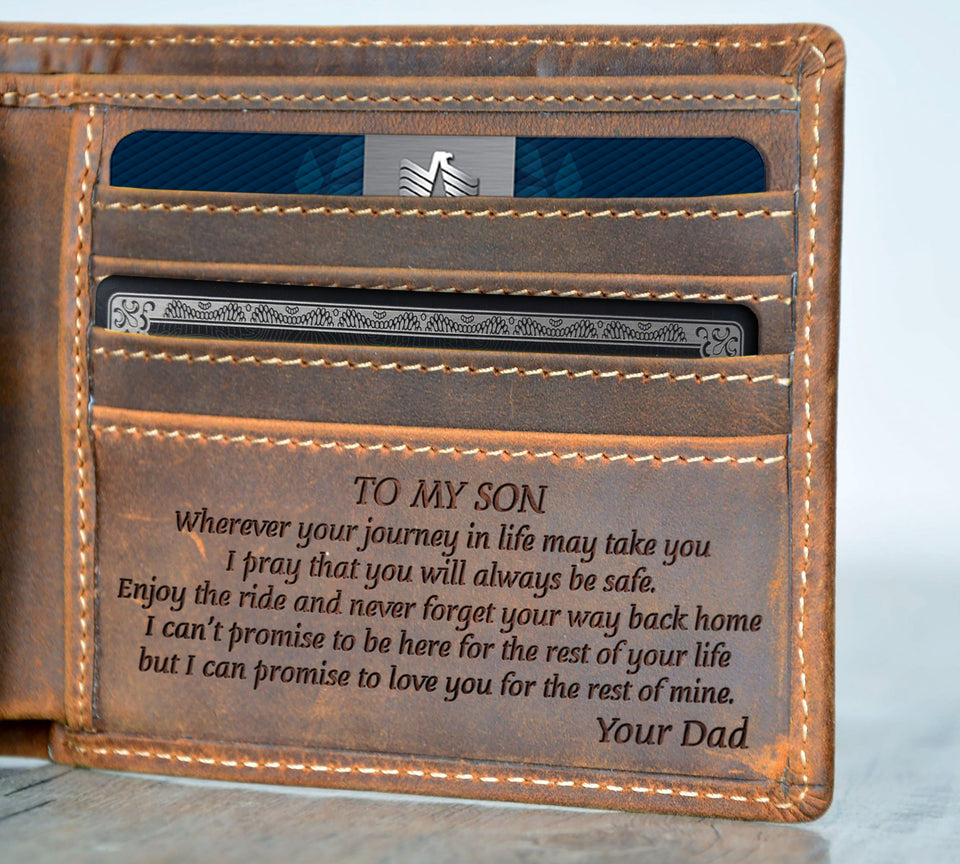 V1727 - I Pray That You Will Always Be Safe - For Son Engraved Wallet