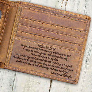 V1728 - From Your Little Girl - For Dad Engraved Wallet