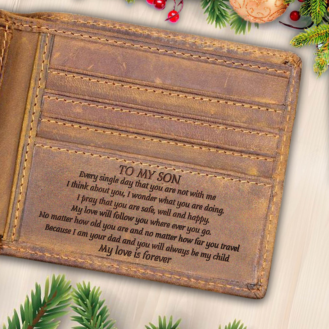 V1733 -Pray For You - For Son Engraved Wallet