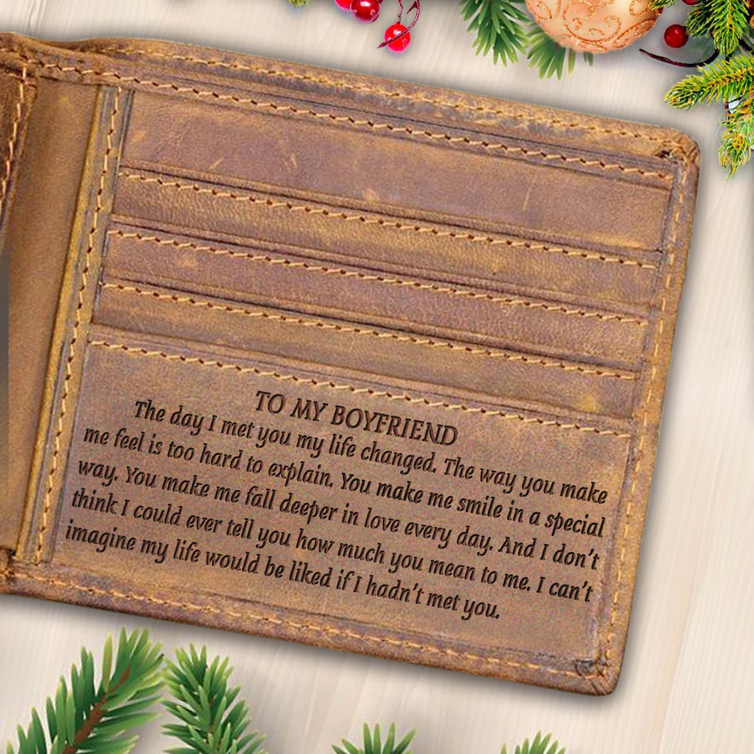 V1748 - You Make Me Fall Deeper In Love - For Boyfriend Engraved Wallet