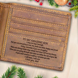 V1753 - To My Amazing Son - For Son Engraved Wallet