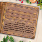 V1764 - I Will Always Be Yours - For Boyfriend Engraved Wallet
