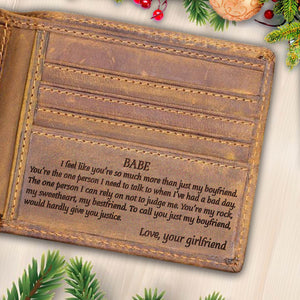 V1768 - You're So Much More Than Just My Boyfriend - For Boyfriend Engraved Wallet