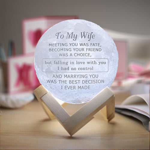 M1793 - Marrying You Is The Best Decision - Moon Lamp