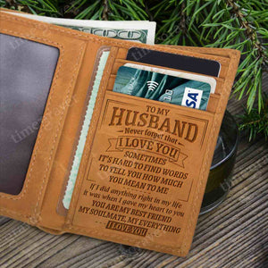 RE1948 - My Husband - Trifold Wallet