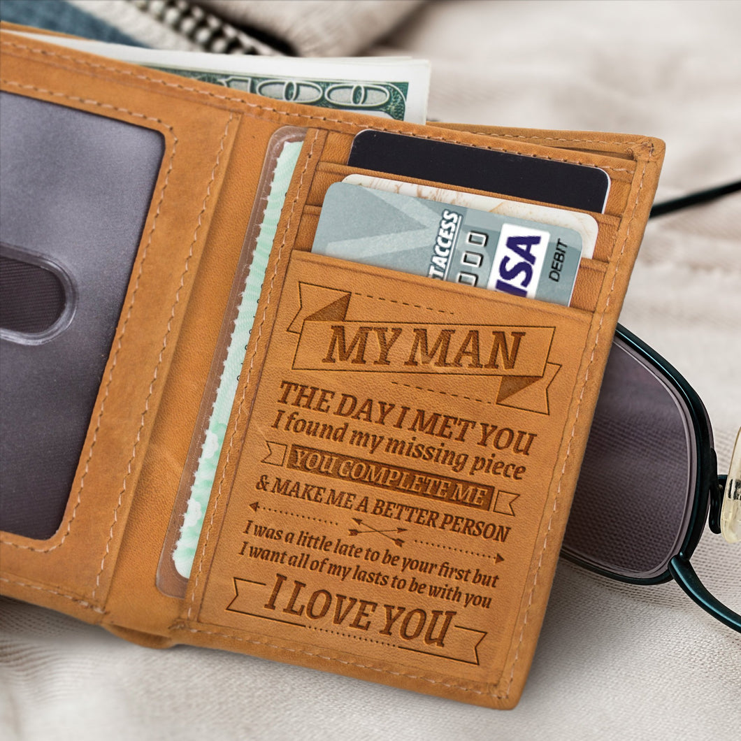 RE1998 - You Complete Me - Trifold Wallet