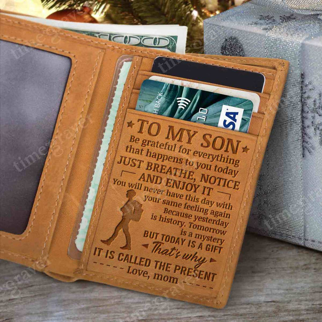 RE2414 - Today Is a Gift - Trifold Wallet
