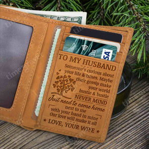 RE2439 - Just Come Home - Trifold Wallet