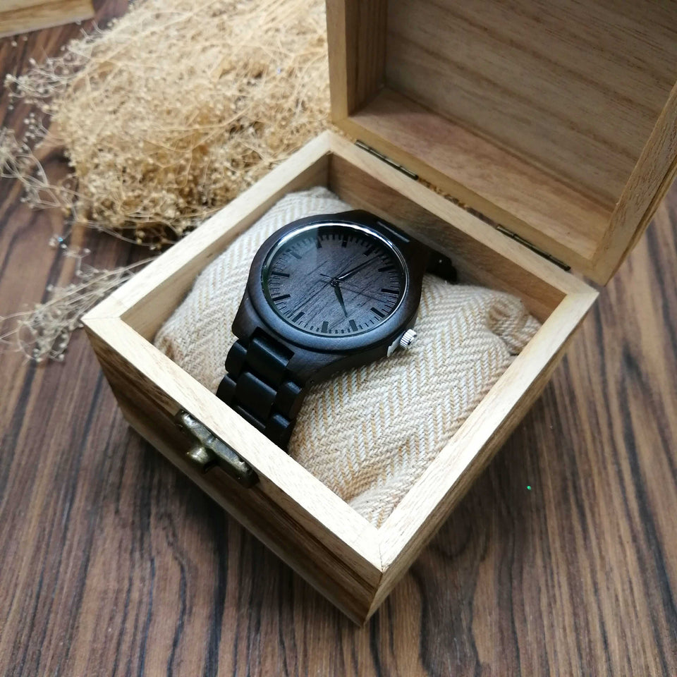A1635 - Let Grow Old Together - For Wife Engraved Wooden Watch