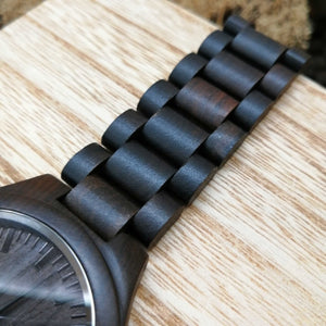 Z1729 - Dear Daddy - From Daughter To Dad Engraved Wooden Watch