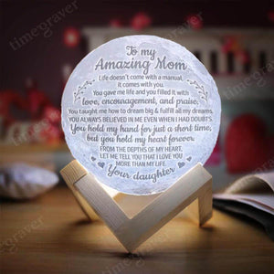 M0534 - Hold My Heart - Moon Lamp