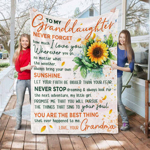 RN0946 - Never Stop Dreaming - Blanket