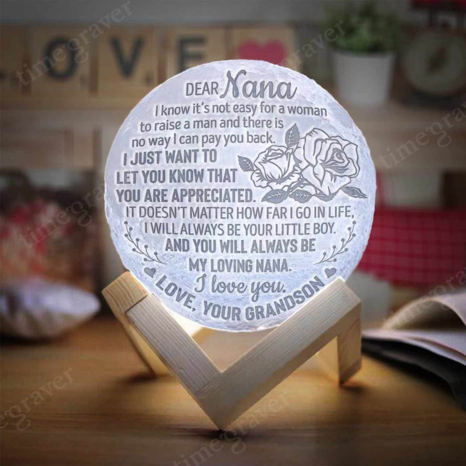 M0987 - My Loving Nana - Moon Lamp