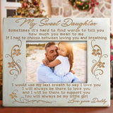 AB2260 - My Sweet Daughter - Wood Frame
