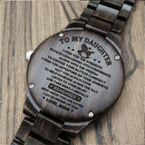 A1636 - Remember How Much You Are Loved - For Daughter Engraved Wooden Watch