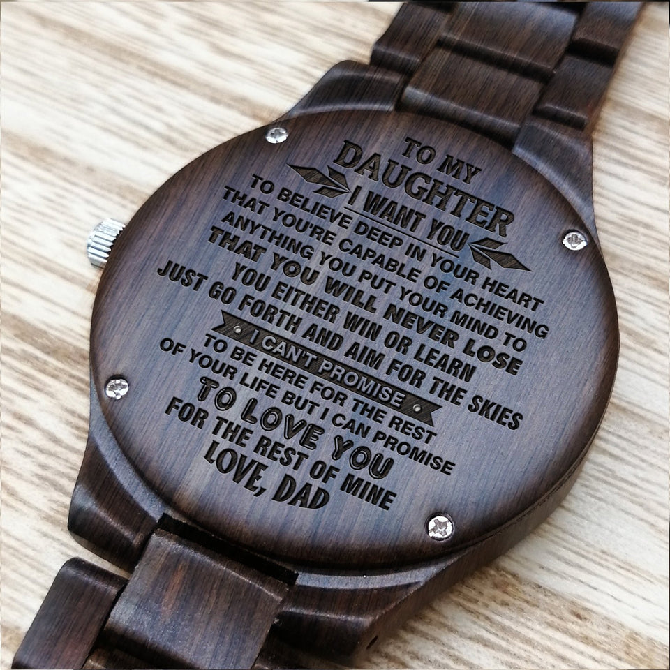 A1637 - Love You For The Rest Of My Life- For Daughter Engraved Wooden Watch