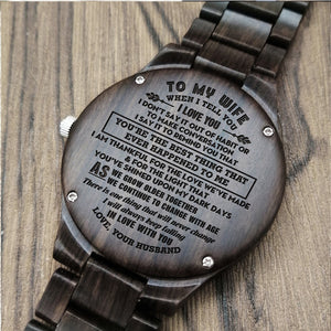 A1671 - Keep Falling In Love With You - For Wife Engraved Wooden Watch