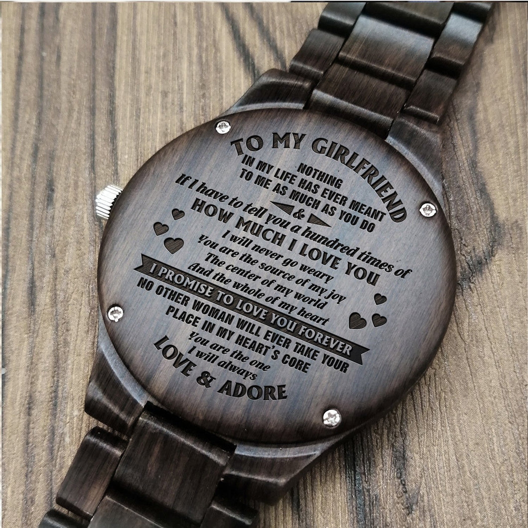 A1678 - You Are The One - For Girlfriend Engraved Wooden Watch