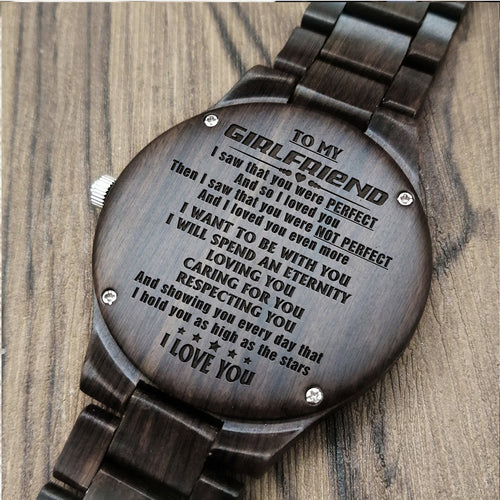 A1679 - Eternity With You - For Girlfriend Engraved Wooden Watch