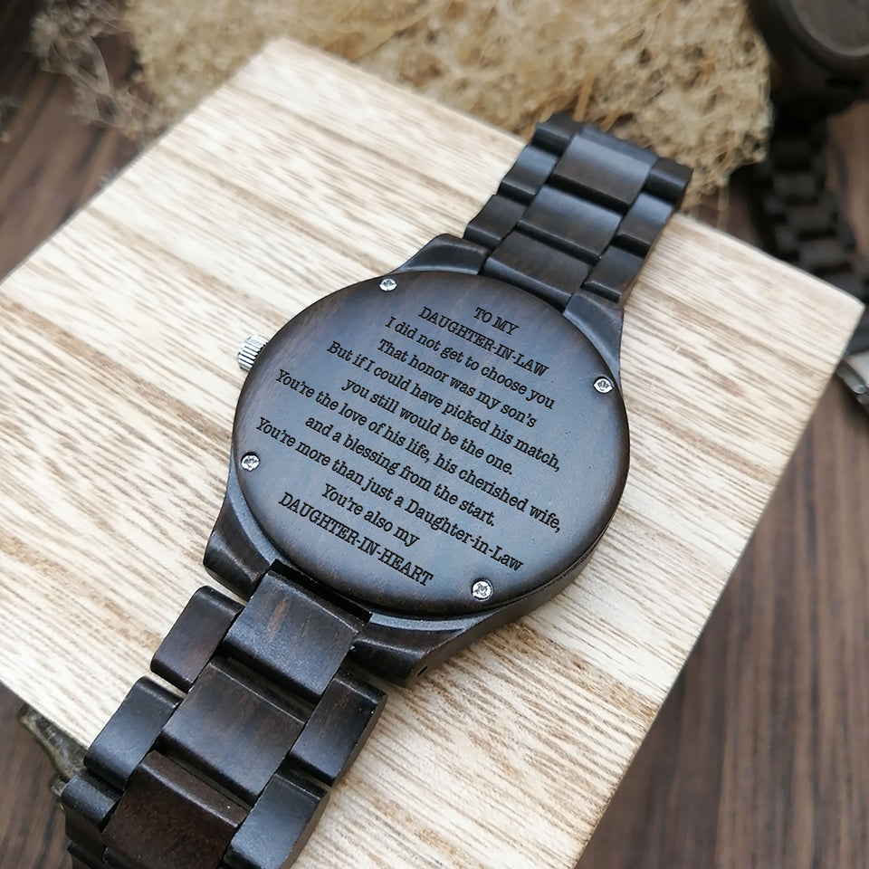 A1697 - My Daughter In Heart  - For Daughter Engraved Wooden Watch