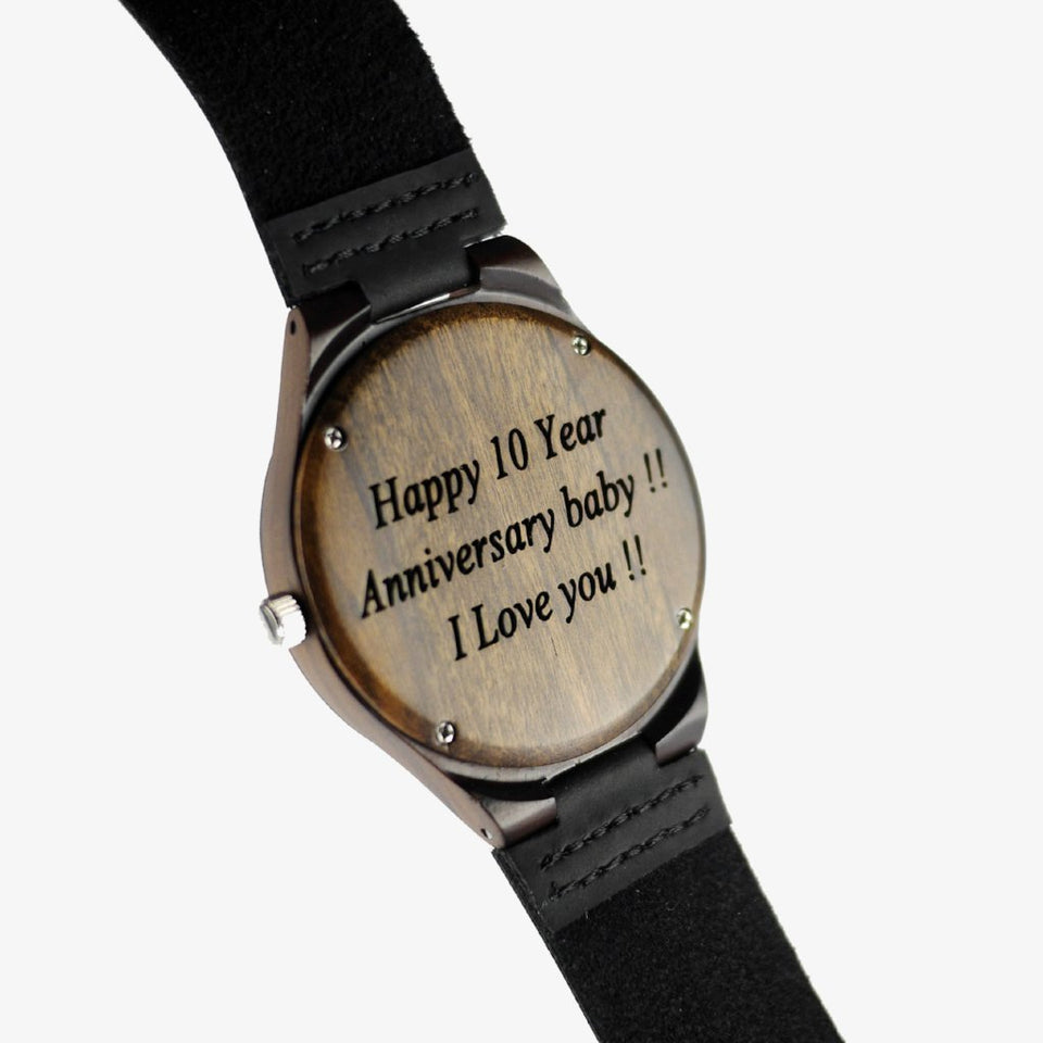 W93 Custom Engraved Wooden Watch For Men
