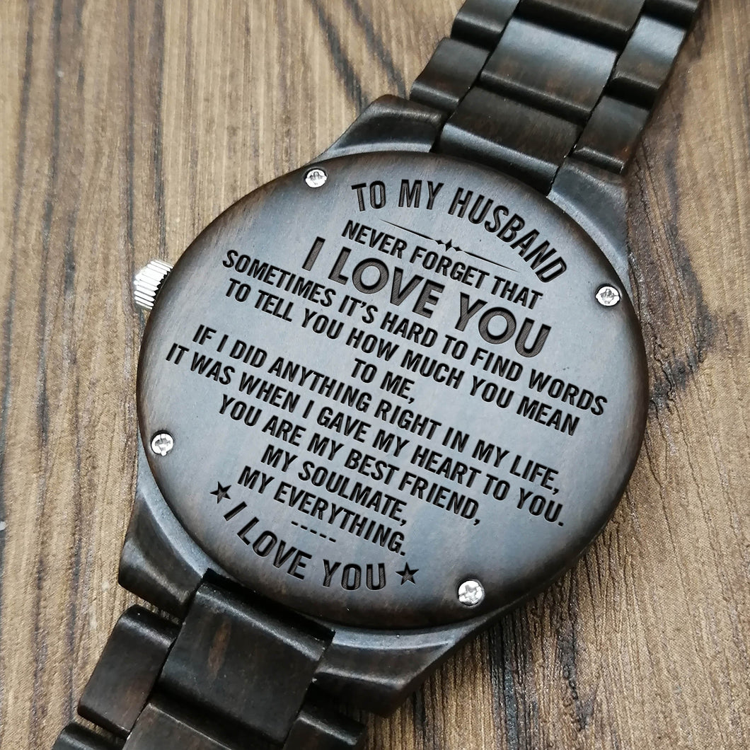 Z1479 My Soulmate My Everything For Husband Engraved Wooden
