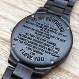 Z1492 - You Are The Missing Piece - For Boyfriend Engraved Wooden Watch