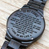 Z1507 - I Can't Wait To Marry You - For Fiancé Engraved Wooden Watch