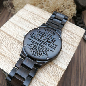 Z1557 - Loved To The Core - For Boyfriend Engraved Wooden Watch