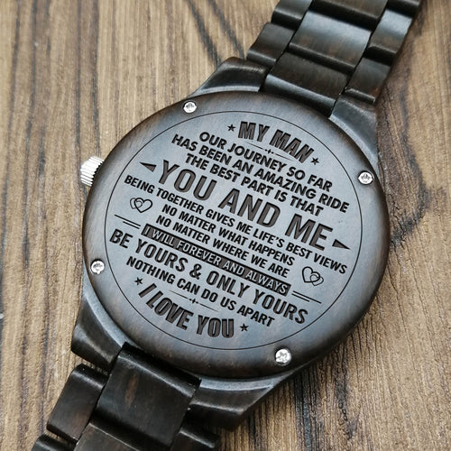 Z1558 - Nothing Can't Do Us Apart - For Fiancé Engraved Wooden Watch