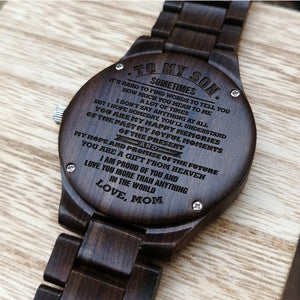 Z1617 - You Are The Gift From The Heaven - For Son Engraved Wooden Watch