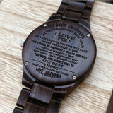 Z1641 - You Are The Best Thing - For Son Engraved Wooden Watch