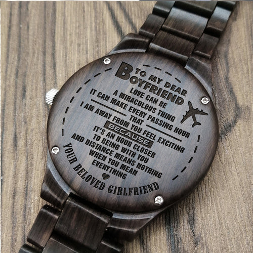 Z1683 - You Mean Everything - For Husband Engraved Wooden Watch