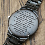 Z1692 - I Wish You Strength - For Son Engraved Wooden Watch