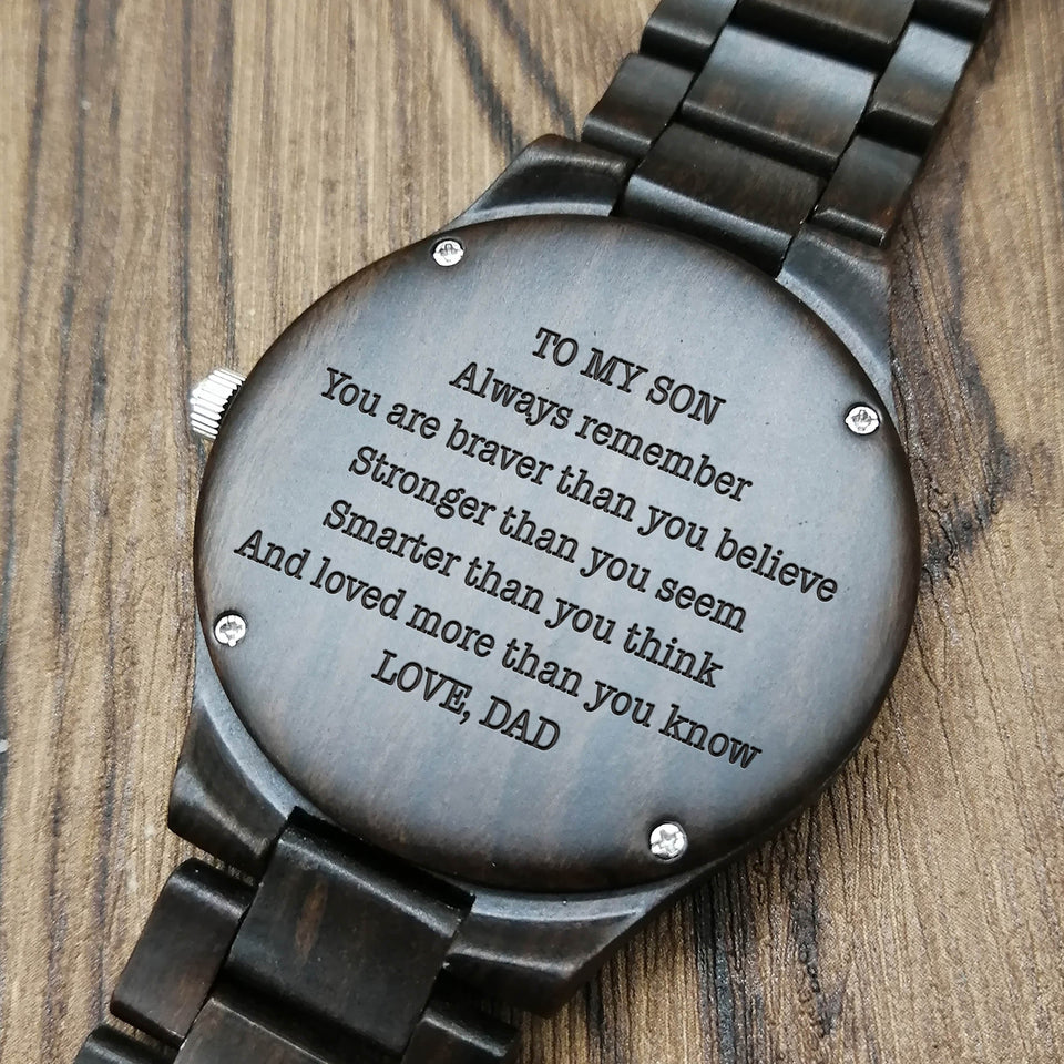 Z1693 - You Are Love More Than You Know - For Son Engraved Wooden Watch