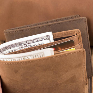 V1722 - The Best Thing Ever Happened To Me - For Husband Engraved Wallet