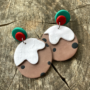 Christmas Pudding Earrings - The Argentum Design Co