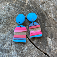 Load image into Gallery viewer, Summer Stripe earrings - The Argentum Design Co