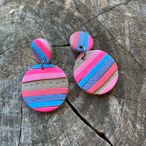 Summer Stripe earrings - The Argentum Design Co