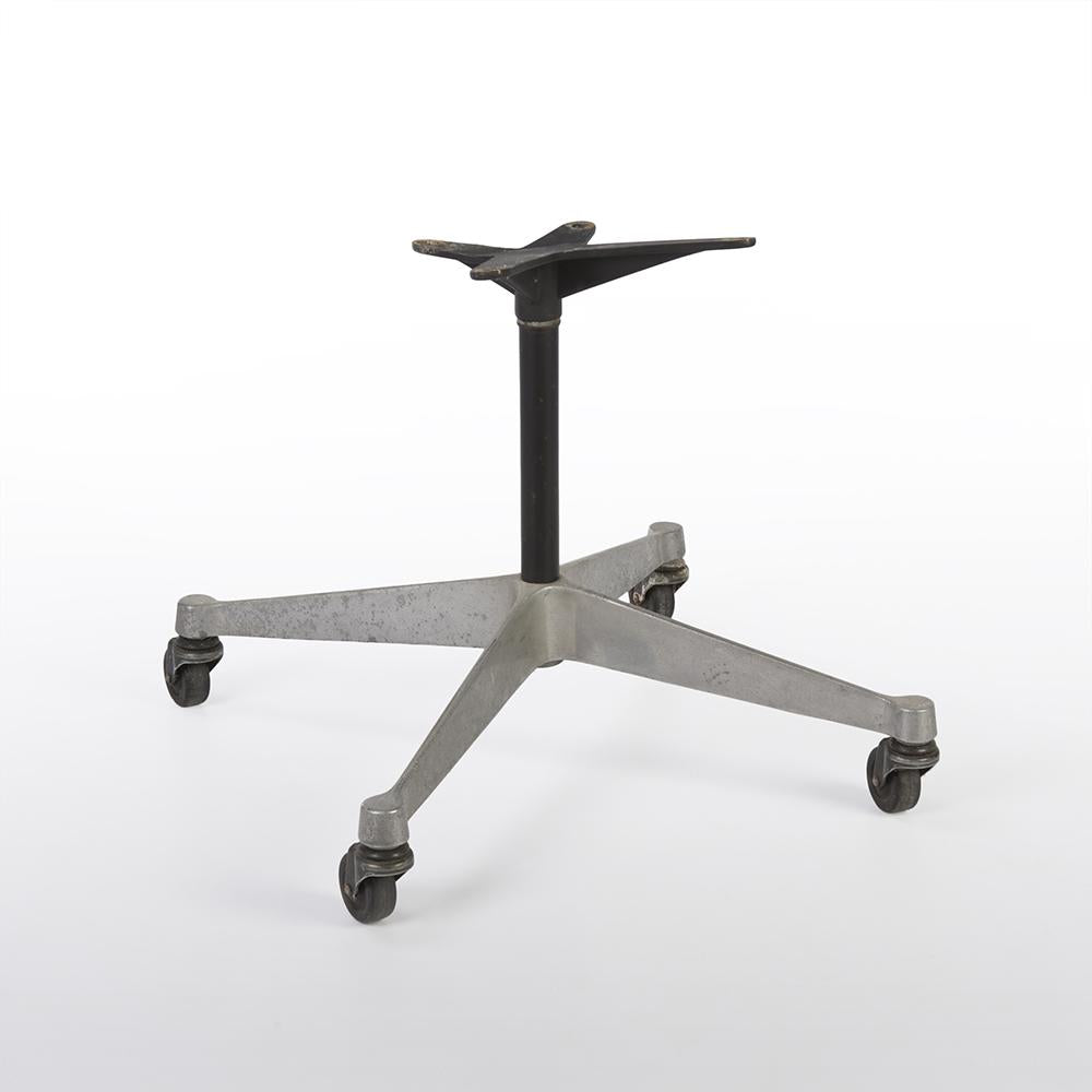 front view Original Castor Contract Base For Eames Side and Arm Shells