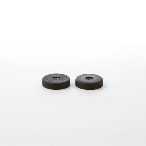 Parts - Shell Chair 2 x (Pair) Eames Side Or Arm Replacement Black Rubber Shock Mounts