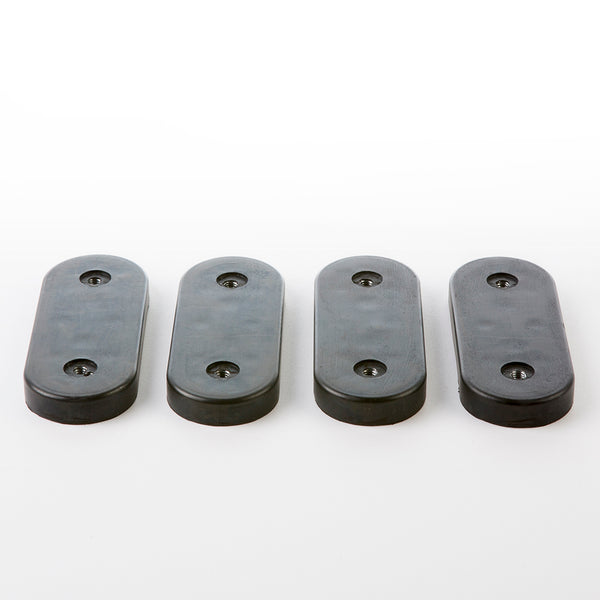 Full Set 4 Eames Lounge Chair Shock Mounts in Black Rubber