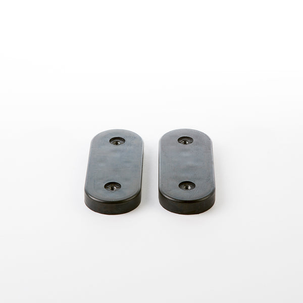 Pair of Eames Lounge Chair Shock Mounts in Black Rubber