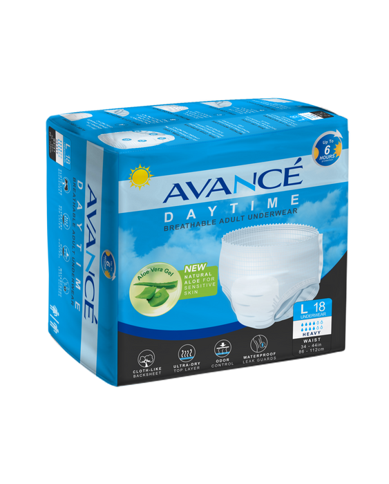 Avancé Aloe Daytime Breathable Adult Protective Underwear Large