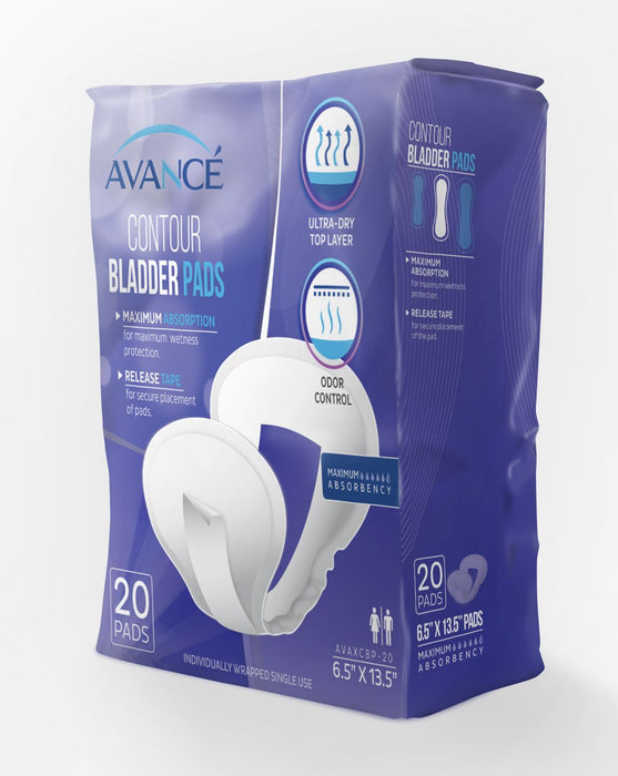 "Avancé Maximum Absorbency 6.5"" x 13.5"" Contour Bladder Pads"